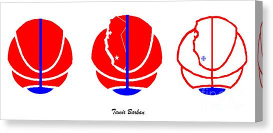 La Clippers Canvas Print - Los Angeles Clippers Logo Redesign Contest by Tamir Barkan