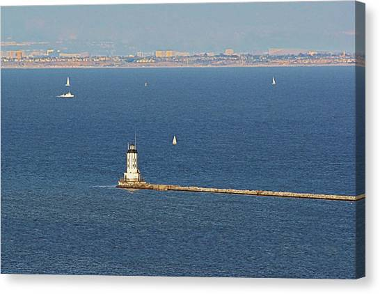Los Angeles Angels Canvas Print - Los Angeles Harbor Light - Angel's Gate - California by Christine Till