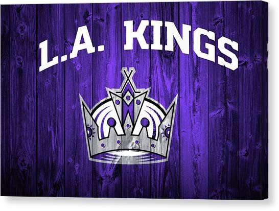 Los Angeles Kings Canvas Print - Los Angeles Kings Barn Door by Dan Sproul