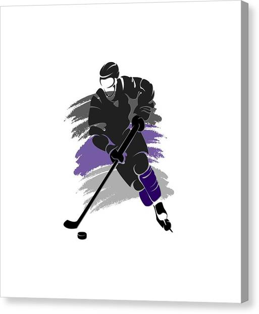 Los Angeles Kings Canvas Print - Los Angeles Kings Player Shirt by Joe Hamilton