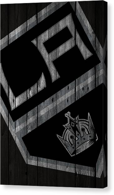 Los Angeles Kings Canvas Print - Los Angeles Kings Wood Fence by Joe Hamilton