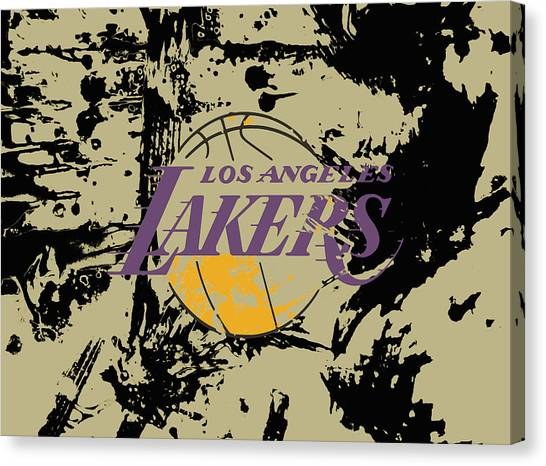 La Lakers Canvas Print - Los Angeles Lakers  by Brian Reaves