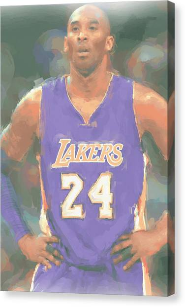 Kobe Bryant Canvas Print - Los Angeles Lakers Kobe Bryant 2 by Joe Hamilton
