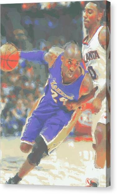 Kobe Bryant Canvas Print - Los Angeles Lakers Kobe Bryant by Joe Hamilton