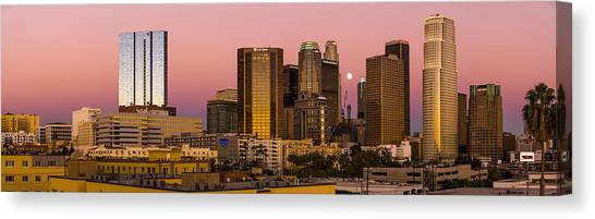 Los Angeles Moonrise 2014 Canvas Print