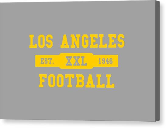Los Angeles Rams Canvas Print - Los Angeles Rams Retro Shirt by Joe Hamilton