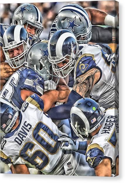 Los Angeles Rams Canvas Print - Los Angeles Rams Team Art by Joe Hamilton
