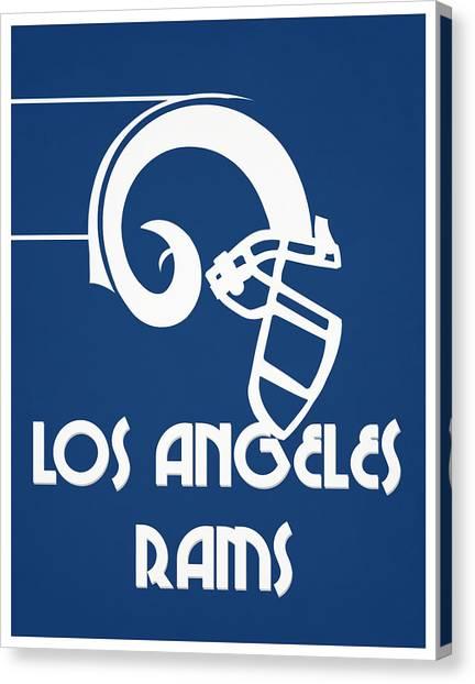 Los Angeles Rams Canvas Print - Los Angeles Rams Team Vintage Art by Joe Hamilton