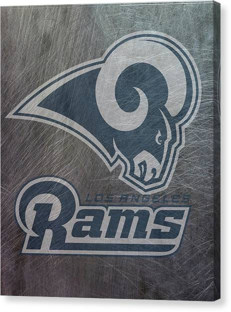Los Angeles Rams Canvas Print - Los Angeles Rams Translucent Steel by Movie Poster Prints
