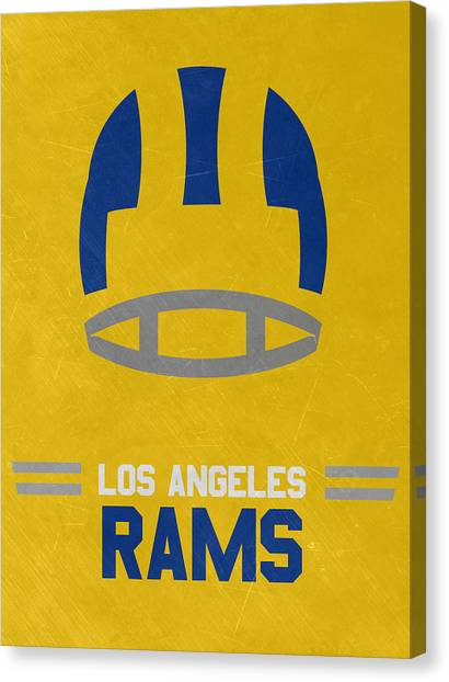 Los Angeles Rams Canvas Print - Los Angeles Rams Vintage Art by Joe Hamilton