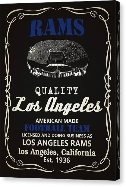 Los Angeles Rams Canvas Print - Los Angeles Rams Whiskey by Joe Hamilton