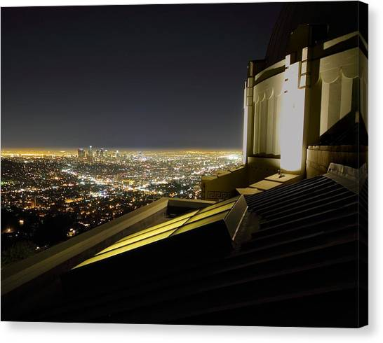 Los Angeles Skyline From The Griffith Observatory Canvas Print