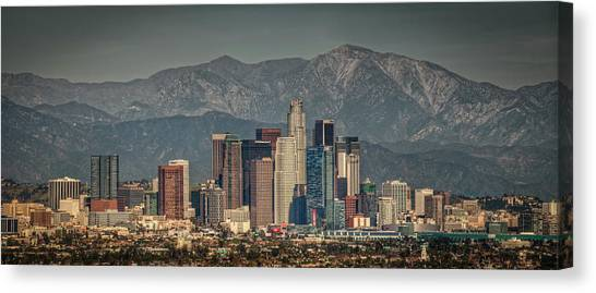 Mountain Ranges Canvas Print - Los Angeles Skyline by Neil Kremer