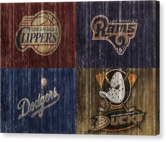 La Clippers Canvas Print - Los Angeles Sports Teams Barn Door by Dan Sproul