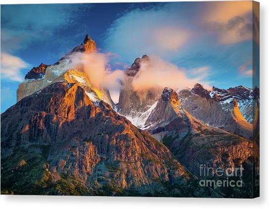 Chilean Canvas Print - Los Cuernos by Inge Johnsson