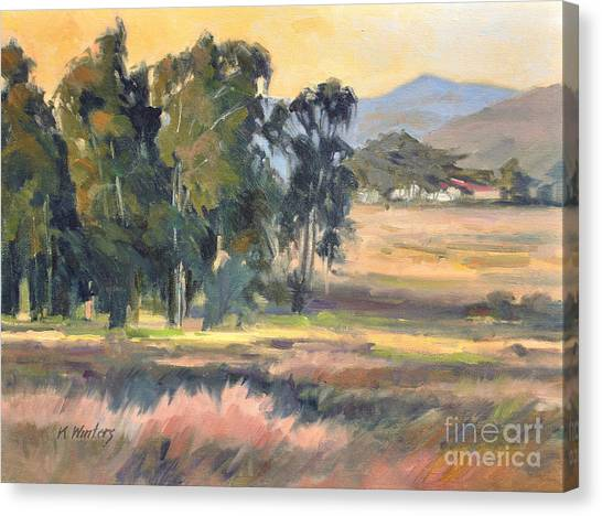 Los Osos Valley - For The Love Of The Land - California Landscape Painting Canvas Print by Karen Winters