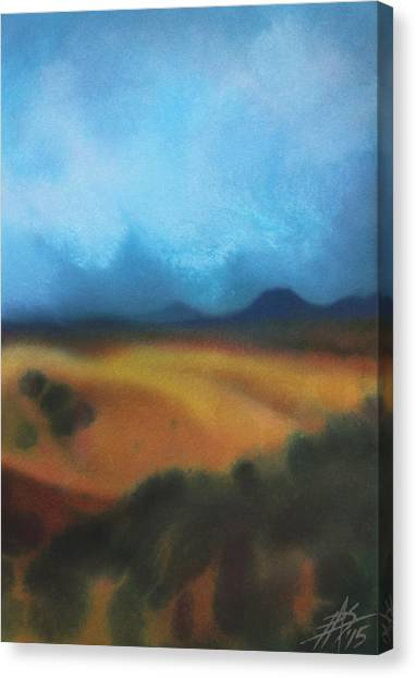 Los Penasquitos Canyon Vii Or Approaching Storm Canvas Print
