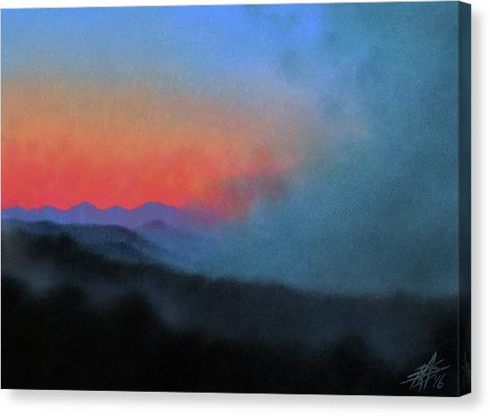 Los Penasquitos Canyon Xiii--coastal Fog At Dawn Canvas Print by Robin Street-Morris
