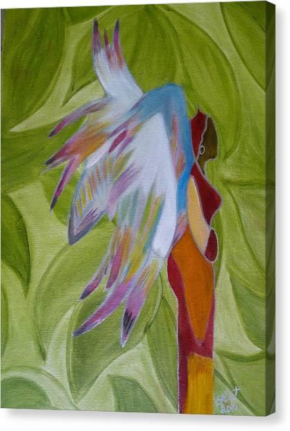Lost Angel Canvas Print by Elizabeth Ribet