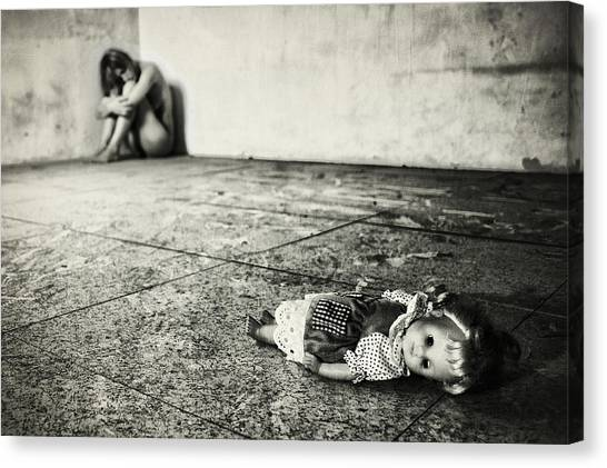 Doll Canvas Print - Lost Doll by Stefano Miserini