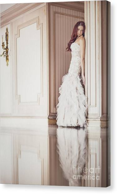 Wedding Gown Canvas Print - Lost Dreams by Evelina Kremsdorf