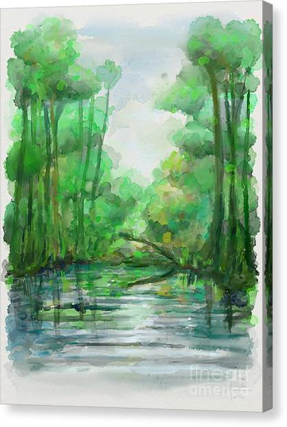 Canvas Print featuring the painting Lost In Colors  by Ivana Westin