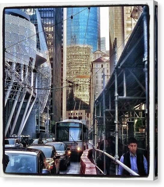 Canvas Print featuring the photograph Lost In Reflection. Wandering The by Mr Photojimsf
