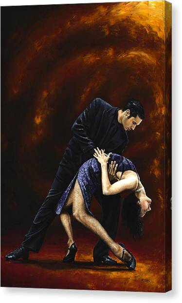 Tango Canvas Print - Lost In Tango by Richard Young