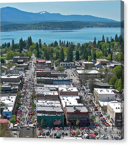 Lost In The 50s Sandpoint Canvas Print by Jerry Luther