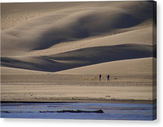 Lost In The Great Sand Dunes Canvas Print