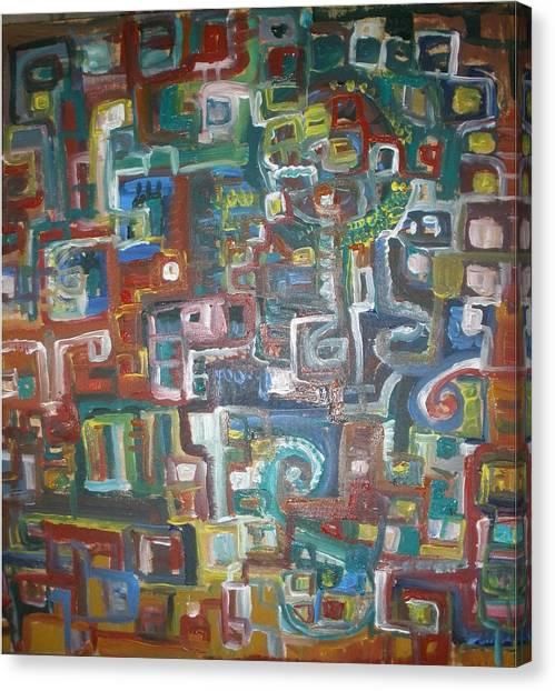 Lost In The Labyrinth Canvas Print by Philip Arnzen-Jones