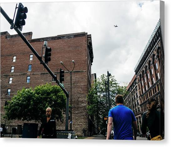 Lost In The Shuffle. St. Louis Street Photography Canvas Print by Dylan Murphy