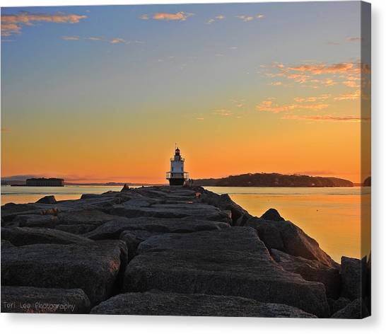 Lost In The Sunrise Canvas Print