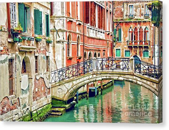 Facade Canvas Print - Lost In Venice by Delphimages Photo Creations