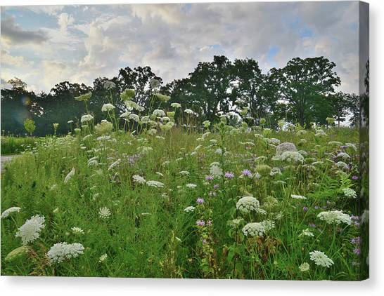 Prairie Sunrises Canvas Print - Lost Valley Visitor Center In Glacial Park by Ray Mathis