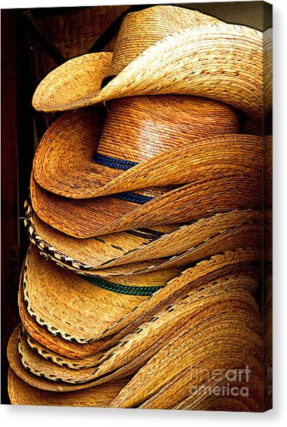 Lots Of Hats Canvas Print by Mexicolors Art Photography