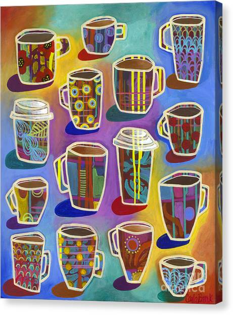 Canvas Print featuring the painting Lots Of Lattes by Carla Bank