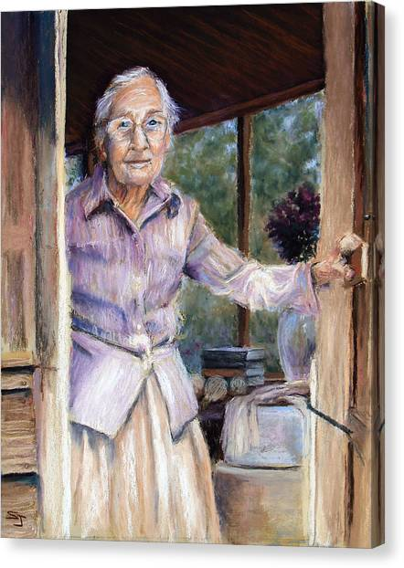 Grandma Canvas Print - Lottie The Faithful Servant by Susan Jenkins