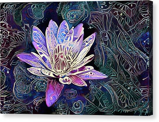 Lotus From The Mud Canvas Print
