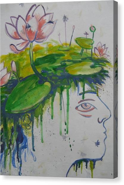 Lotus Head Canvas Print
