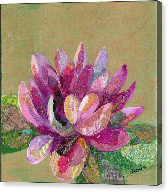 Magenta Canvas Print - Lotus Series II - 4 by Shadia Derbyshire