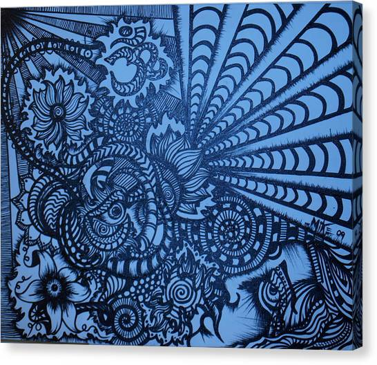 Lotus Vibrations  Canvas Print by Mike OKeefe