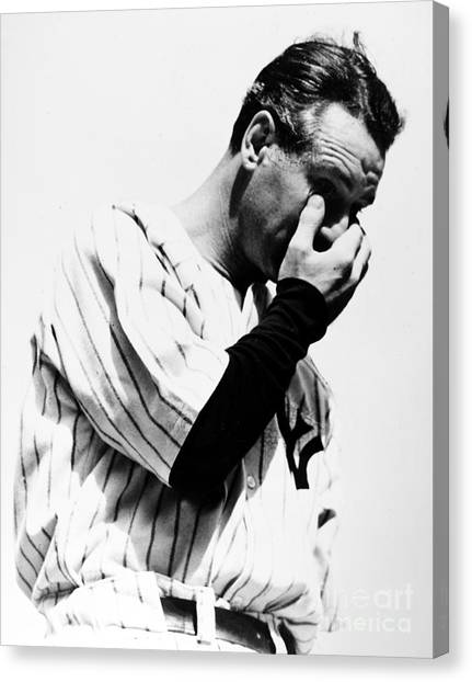 Lou Gehrig Canvas Print - Lou Gehrig by Granger