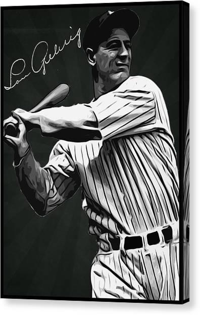 Lou Gehrig Canvas Print - Lou Gehrig by Semih Yurdabak