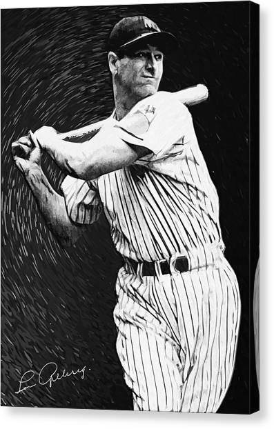 Lou Gehrig Canvas Print - Lou Gehrig by Zapista