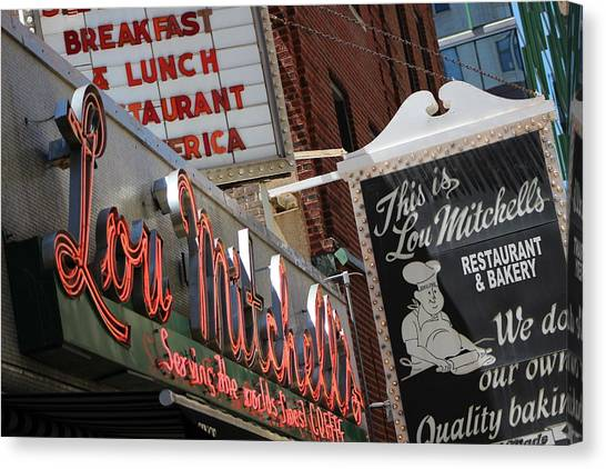 Lou Mitchells Restaurant And Bakery Chicago Canvas Print