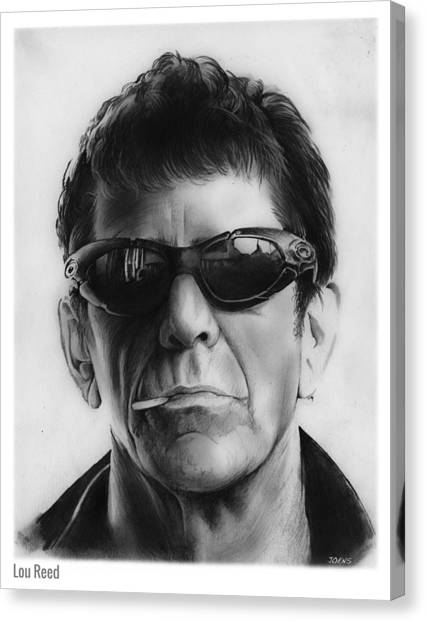 London Tube Canvas Print - Lou Reed by Greg Joens