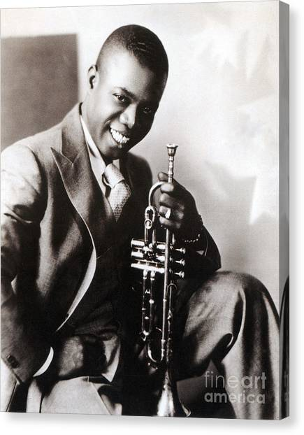 Harlem Canvas Print - Louis Armstrong, American Jazz Musician by Science Source