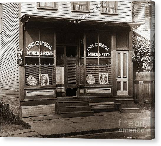 Louis Czarniecki Miners Rest 209 George Ave Parsons Pennsylvania Canvas Print