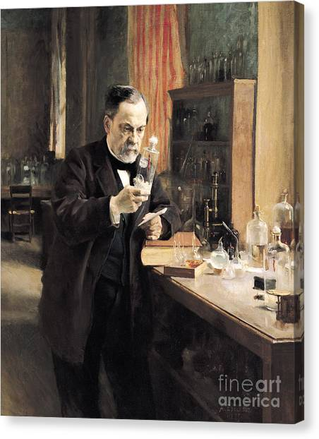 Academic Art Canvas Print - Louis Pasteur by Albert Gustaf Aristides Edelfelt
